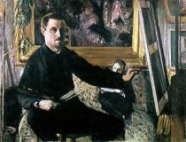 Gustave Caillebotte - Self Portrait with an Easel, c.1879
