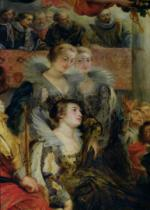 Peter Paul Rubens - The Medici Cycle: The Coronation of Marie de Medici (1573-1642) at St. Denis, 13th May 1610, detail of the Princesses of Guemene