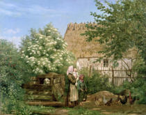 Frederick Christian Lund - Feeding the Chickens