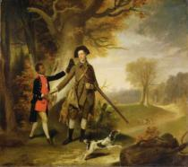Zoffany Zoffany - The Third Duke of Richmond (1735-1806) out Shooting with his Servant, c.1765