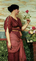 John William Godward - A red, red rose