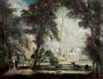 John Constable - Salisbury Cathedral from the Bishop's Grounds, c.1822-23