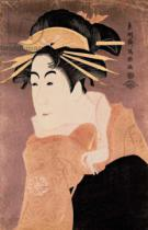 Toshusai Sharaku - Matsumoto Yonesaburo in the role of the courtesan Kewaizaka No Shosho  in the play 'Katakiuchi Noriai Banashi', c.1794-95