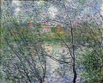 Claude Monet - The Banks of the Seine or, Spring through the Trees, 1878