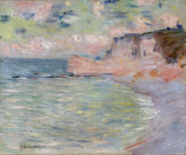 Claude Monet - Cliffs and the Porte d'Amont, Morning Effect, 1885