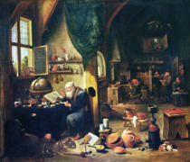 David Teniers - An Alchemist in his Workshop