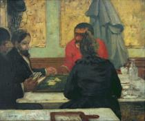 Charles Cottet - Card Players, 1883