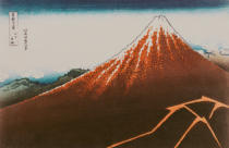 Katsushika Hokusai - Fuji above the Lightning', from the series '36 Views of Mt. Fuji'