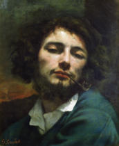 Gustave Courbet - Self Portrait or, The Man with a Pipe, c.1846
