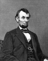 Mathew Brady - Abraham Lincoln, engraved from a photograph by William G. Jackman