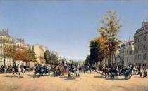Edmond Georges Grandjean - View of the Champs-Elysees from the Place de l'Etoile, 1878
