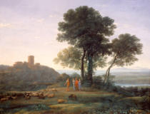 Claude Lorrain - Jacob with Laban and his daughters