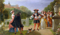 Edward Matthew Ward - King Charles II (1630-85) and Nell Gwynne (1650-87)