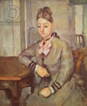 Paul Cézanne - Madame Cezanne Leaning on a Table, 1873-77