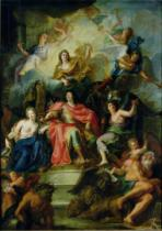Charles-Antoine Coypel - Louis XIV (1638-1715) Crowned by Glory, c.1686
