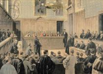 Oswaldo Tofani - The Panama Trial, from 'Le Petit Journal', engraved by Fortune Louis Meaulle (1844-1901) 2nd January 1898