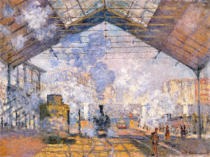 Claude Monet - The Gare St. Lazare, 1877