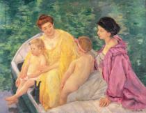Mary Stevenson Cassatt - The Swim, or Two Mothers and Their Children on a Boat, 1910