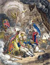 James Gillray - The Death of Admiral Lord Nelson at the Moment of Victory! published by Hannah Humphrey in 1805