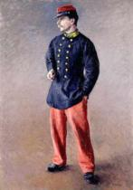 Gustave Caillebotte - A Soldier, 1881