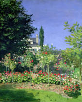 Claude Monet - Flowering Garden at Sainte-Adresse, c.1866