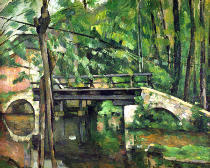 Paul Cézanne - The Bridge at Maincy, or The Bridge at Mennecy, or The Little Bridge, c.1879