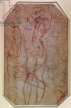Michelangelo Buonarroti - Study of Figures and the Creation of Adam