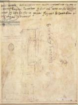 Michelangelo Buonarroti - Architectural Study with Notes