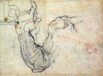 Michelangelo Buonarroti - Preparatory Study for the Arm of Christ in the Last Judgement, 1535-41