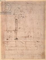 Michelangelo Buonarroti - Design for the tomb of Pope Julius II (1453-1513)