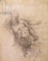 Michelangelo Buonarroti - Study for Noah in 'The Drunkenness of Noah', 1508-12
