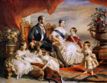 Franz Xavier Winterhalter - Queen Victoria (1819-1901) and Prince Albert (1819-61) with Five of the Their Children, 1846