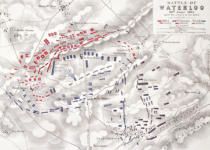 Alexander Keith Johnston - Battle of Waterloo, 18th June 1815, Sheet 2nd, Crisis of the Battle