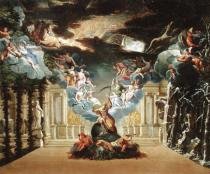 French School - Set design for 'Atys' by Jean-Baptiste Lully (1632-87)