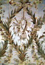 Gilles Gaudin - Mural silk of the Empress' Bedroom, 1787