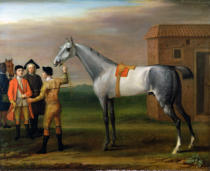 John Wootton - Lamprey, with his owner, Sir William Morgan, at Newmarket, 1723