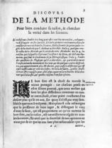 French School - First page of 'Discours de la Methode' by Rene Descartes (1596-1650)