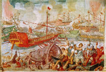 Antonio Vassilacchi - The Battle of Actium, 2nd September 31 BC, 1600