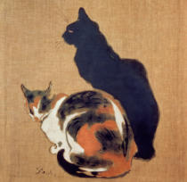 Theophile-Alexandre Steinlen - Two Cats, 1894