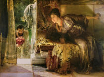 Sir Lawrence Alma-Tadema - Welcome Footsteps, 1883