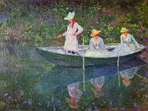 Claude Monet - Im Kahn in Giverny