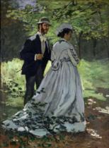 Claude Monet - The Promenaders, or Bazille and Camille, 1865