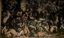 Daniel Maclise - The Death of Nelson, detail of the lower deck of the Victory, 1863-65