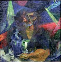 Umberto Boccioni - Composition with Figure of a Woman, 1912