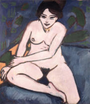 Ernst-Ludwig Kirchner - Model on Blue Ground, 1906