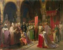 Jean-Baptiste Mauzaisse - Louis VII (c.1120-1180) the Young, King of France Taking the Banner in St. Denis in 1147, 1840