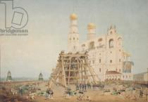 Wassili Semionowitsch Sadownikow - Raising of the Tsar-bell in the Moscow Kremlin in 1836, 1839