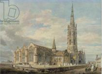 Joseph Mallord William Turner - North-east View of Grantham Church, Lincolnshire, c.1797