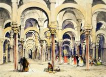 John Frederick Lewis - Mosque at Cordoba, from 'Sketches of Spain', engraved by Charles Joseph Hullmandel (1789-1850), published 1836