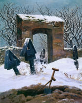 Caspar David Friedrich - Cemetery in the Snow, 1826